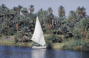 Esna felucca on the Nile
